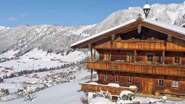 The village Alpbach in Winter