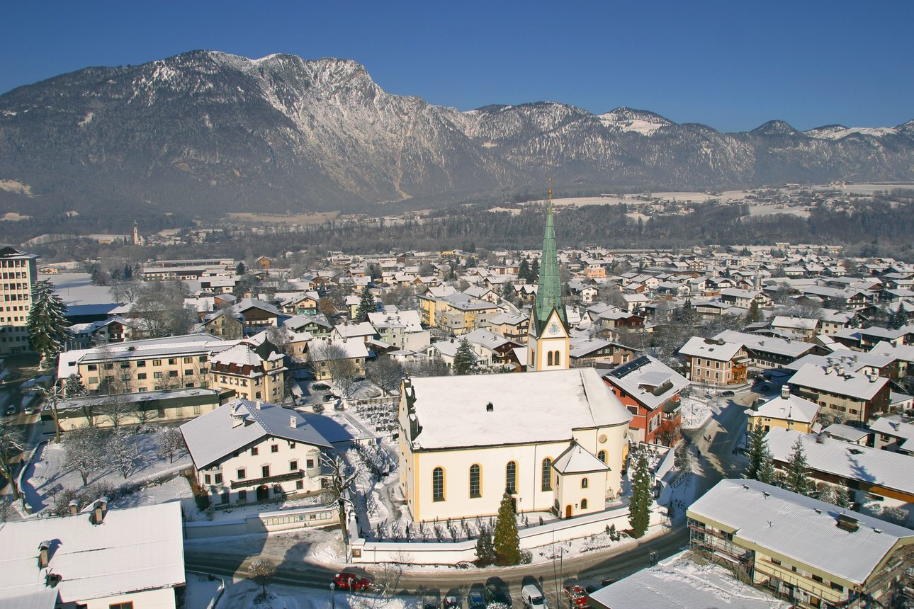Villagescape of Kundl in Winter