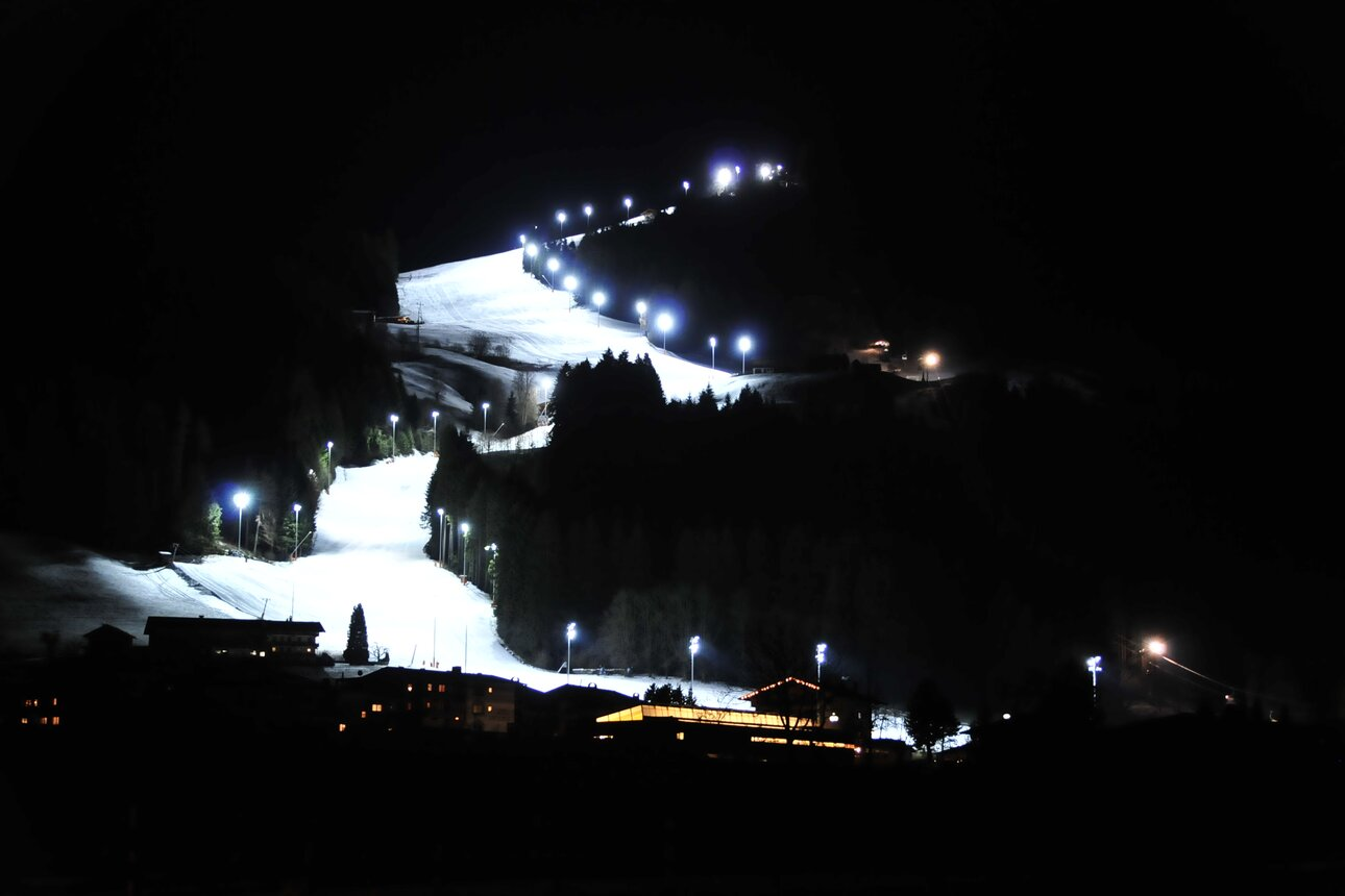 Night skiing in Reith im Alpbachtal