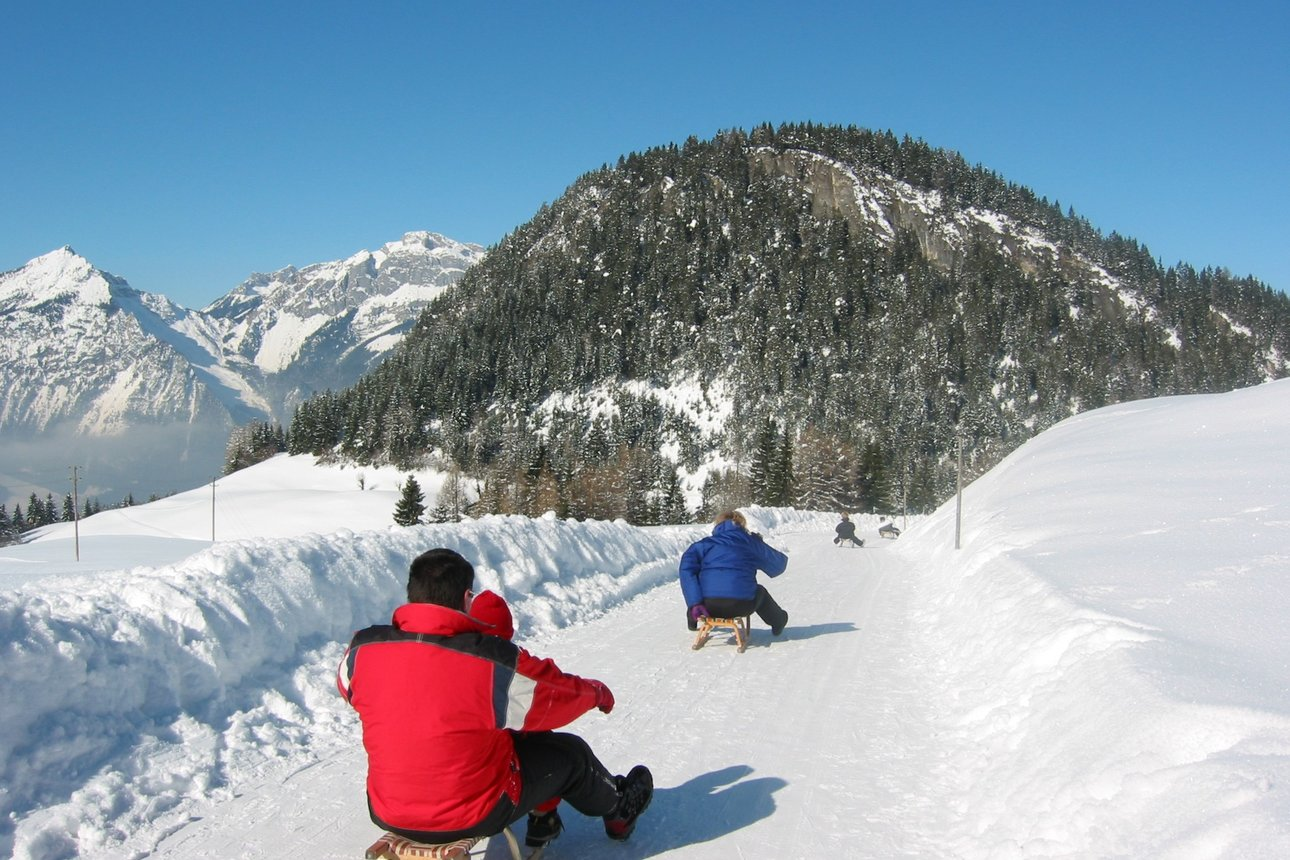 Sledging - Reitherkogel in Winter