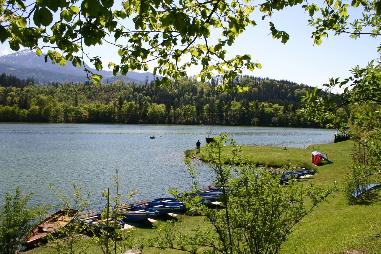 Boats at Reintalersee in Kramsach