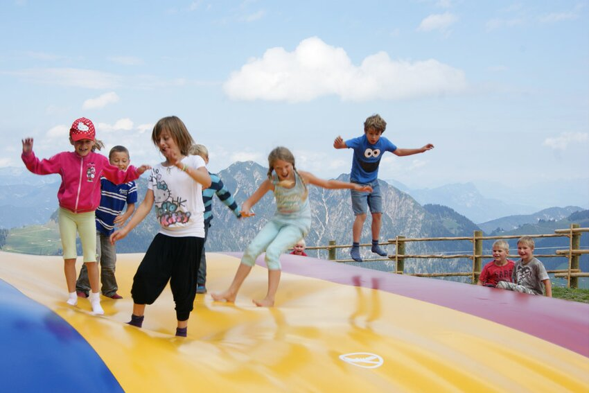 Jumping cushion in Lauserland