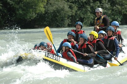 Rafting at Brandenberger Ache