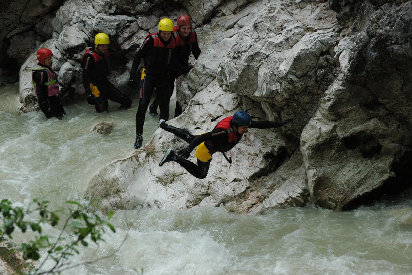 Whitewater swimming Kaiserklamm
