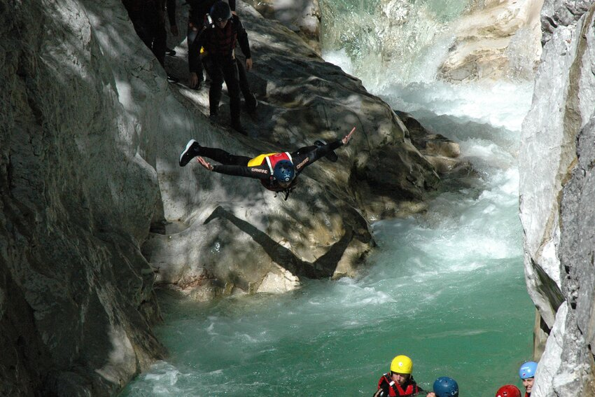 Whitewater Swimming in Alpbachtal