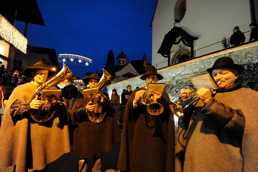 Musicians at the Christmasmarked in Brixlegg