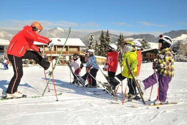 Children's skiing course in Alpbachtal