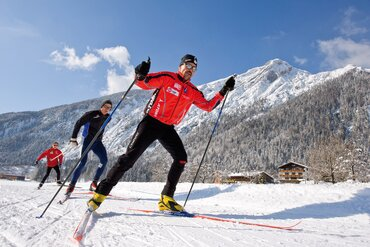 Cross-country skiiing in Alpbach in Tirol