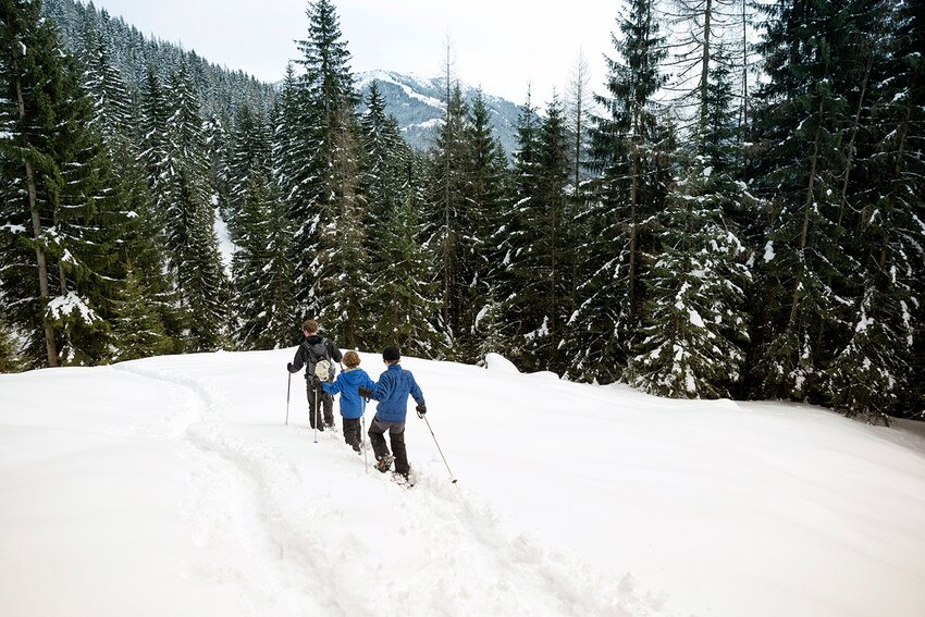 Snowshoe hiking tour in Alpbach