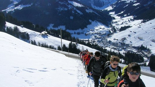 Snowshoe hiking tour in Alpbachtal