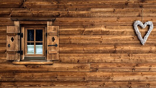 Wooden facade in Alpbach