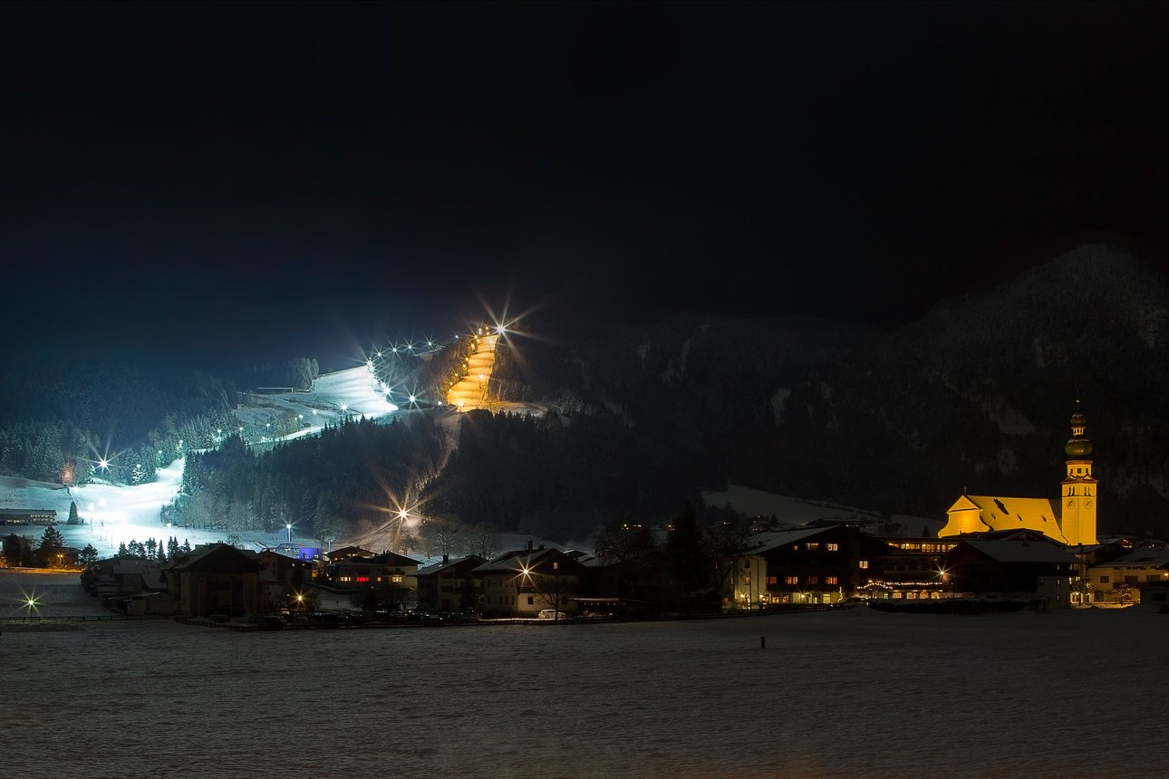 Nightskiing in Reith im Alpbachtal