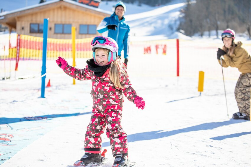 First time skiing in Juppi Do Kinderland